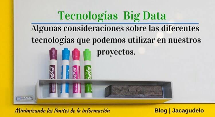 Tecnologías en Big Data